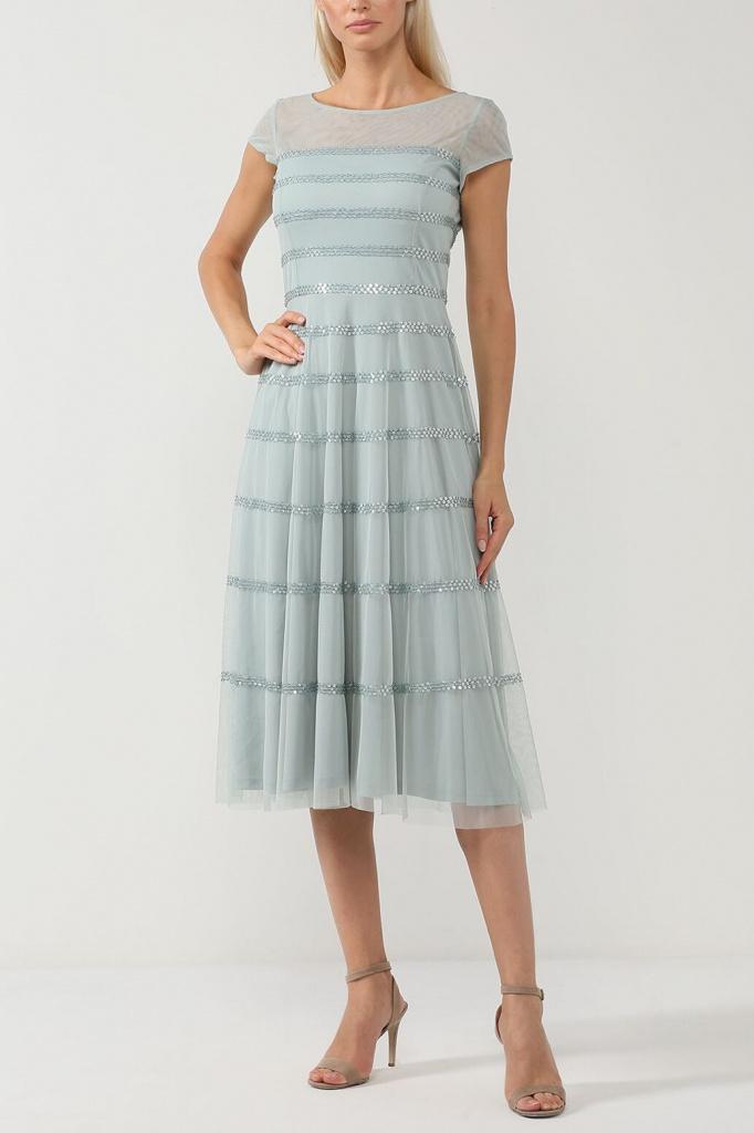 Шифоновое платье на чехле