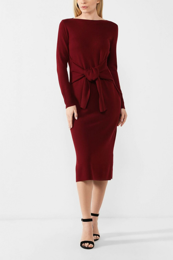 Вязаное платье из смеси шерсти и вискозы