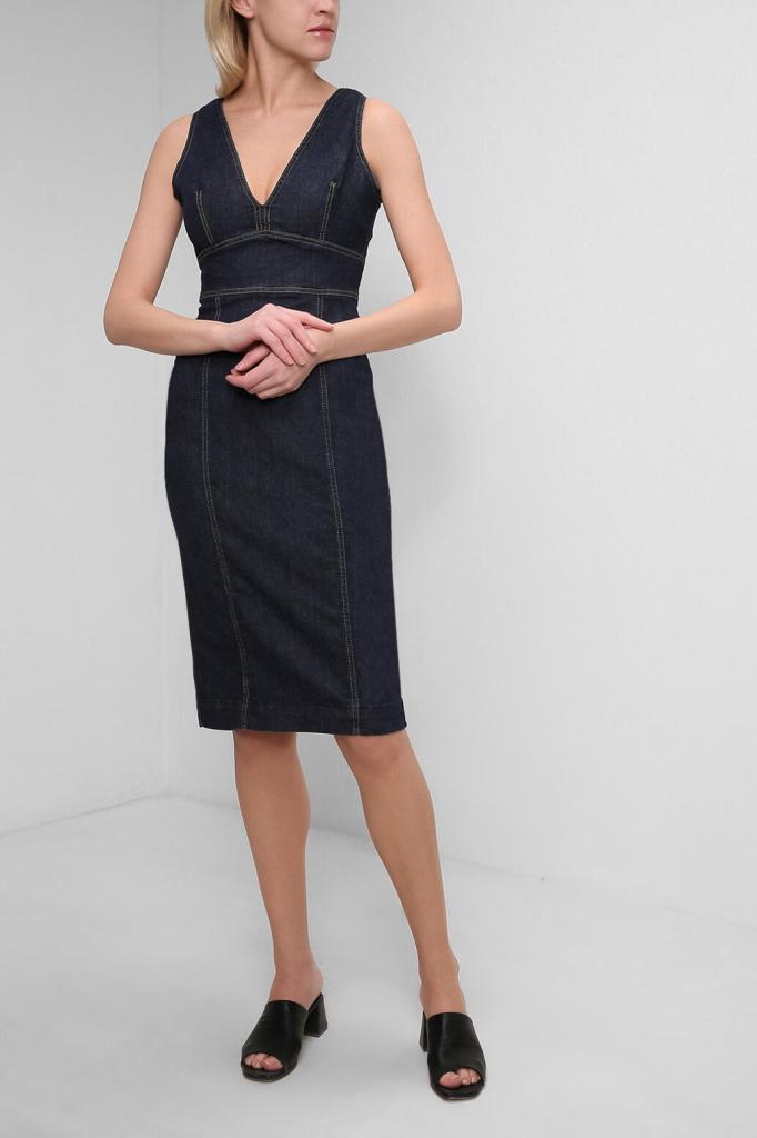 Приталенное платье из денима
