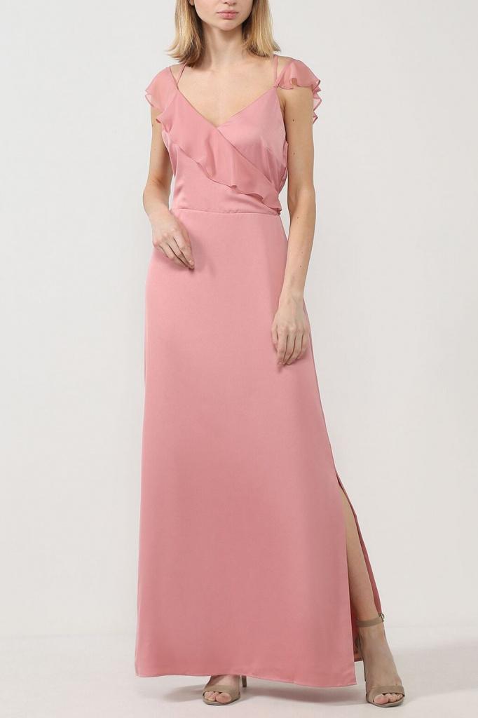 Платье макси с разрезом